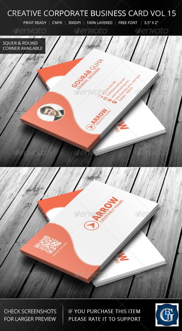 GraphicRiver Creative Corporate Business Card Vol 15 6278014