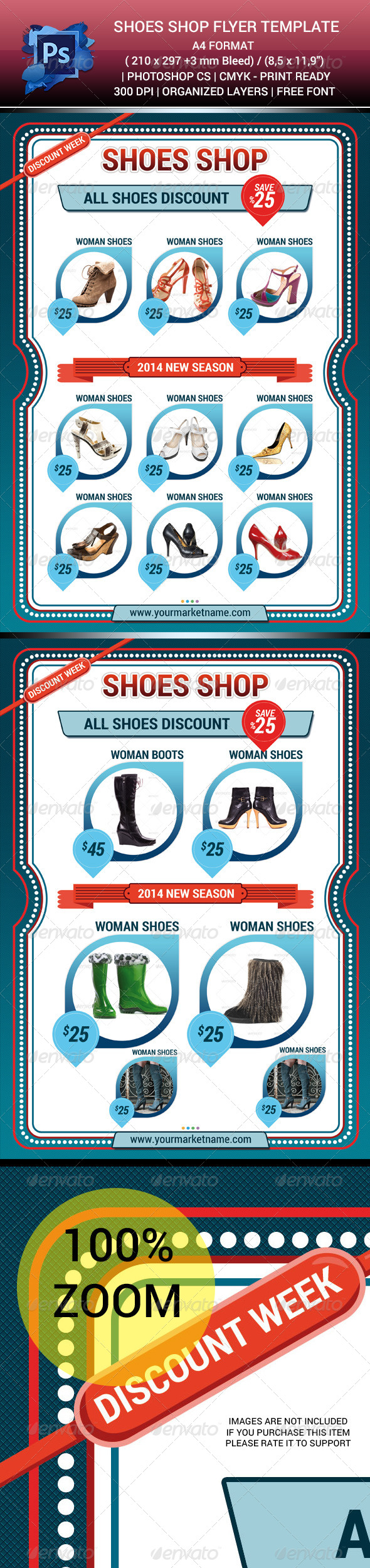 GraphicRiver Shoes Shop Sales Flyer Template V.1 6315661