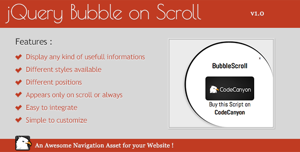 CodeCanyon Animated jQuery Bubble Scroll 6274084