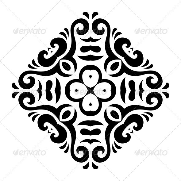 GraphicRiver Abstract Vector Mehndi Tattoo Ornament 6315994