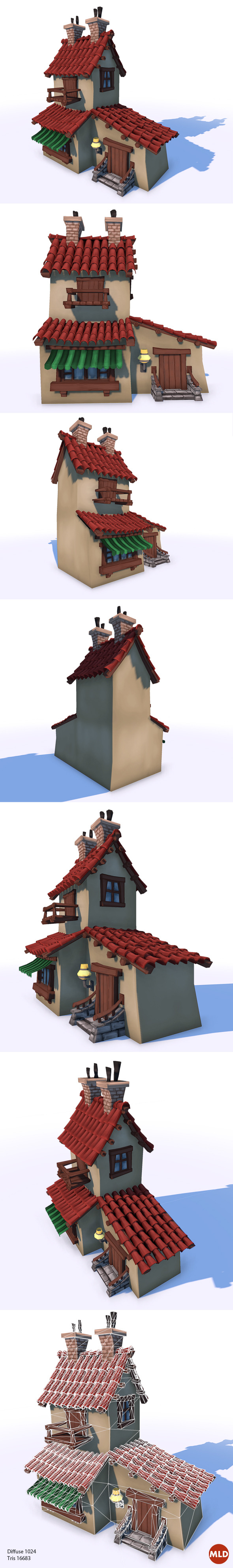 3DOcean Low Poly Cartoon House 6316141