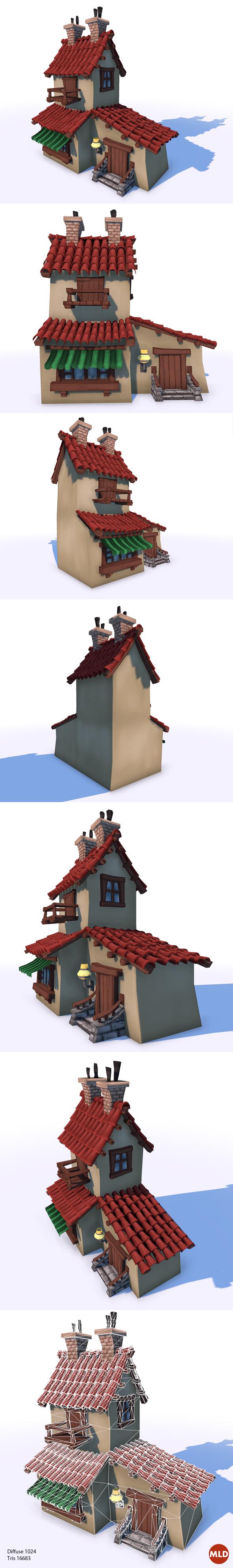 3DOcean Cartoon lowpoly House 6316141