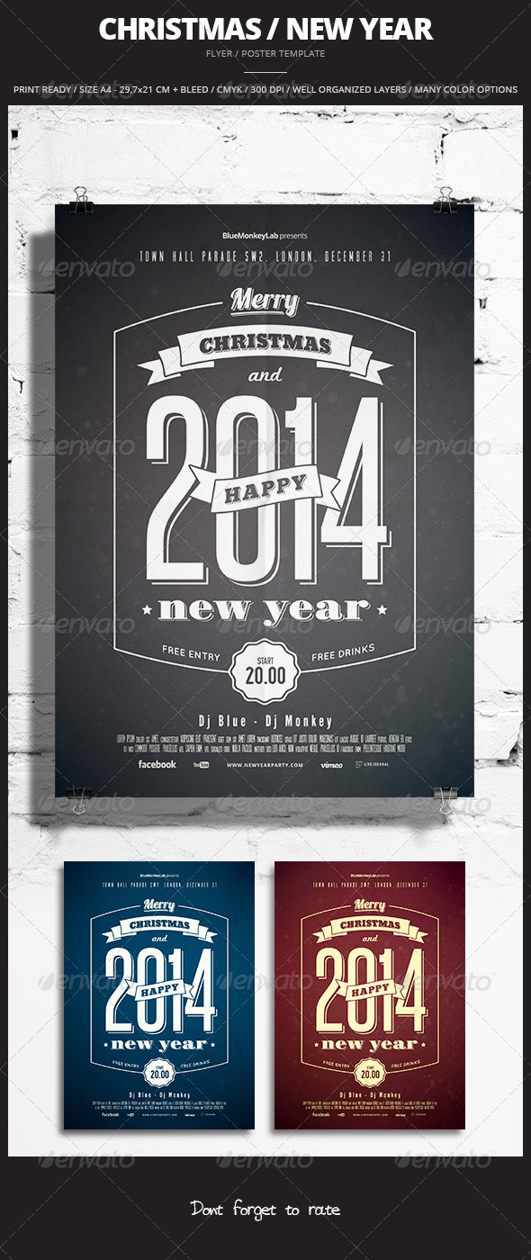 GraphicRiver Christmas New Year Flyer Poster 2 6306462