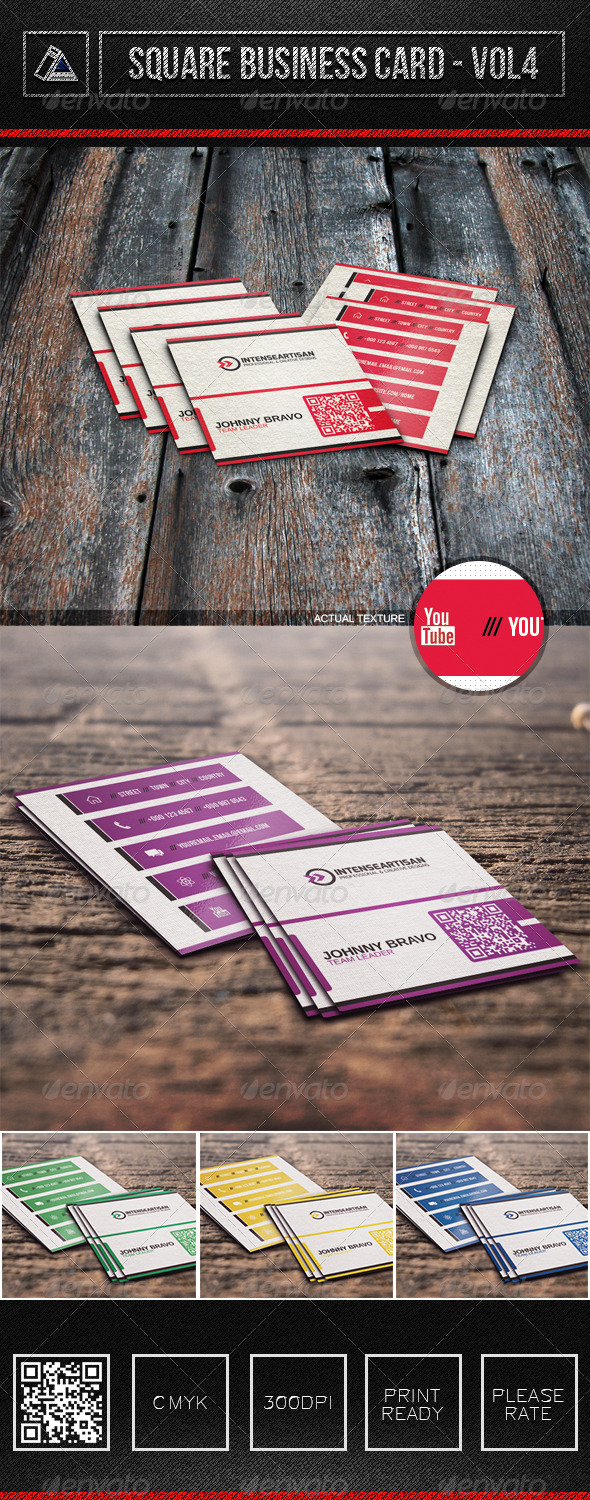GraphicRiver Square Business Card Vol4 6316159