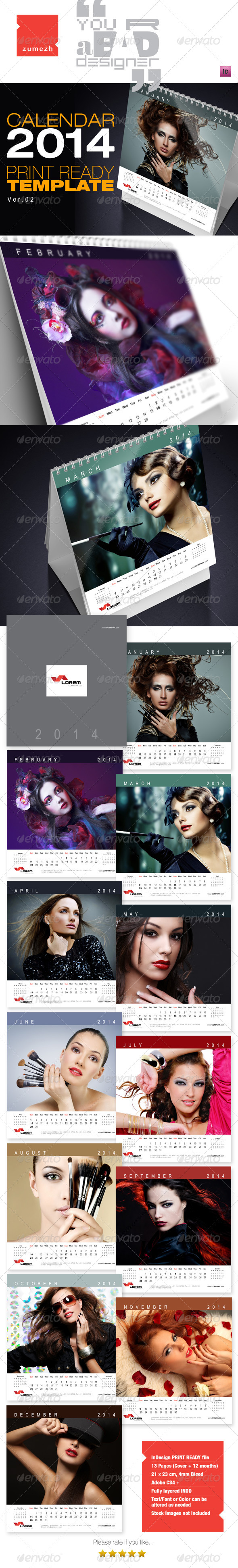 GraphicRiver Desktop Calendar 2014 v2 6276736