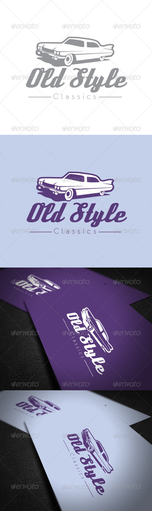 Old Style Car Logo Template - Vector Abstract