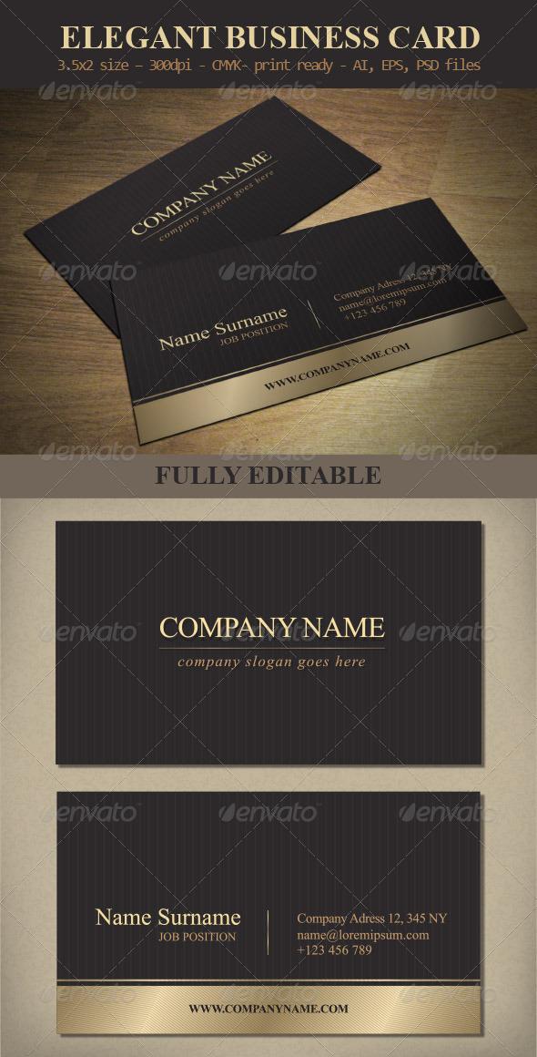 GraphicRiver Elegant Business Card Template 6278472