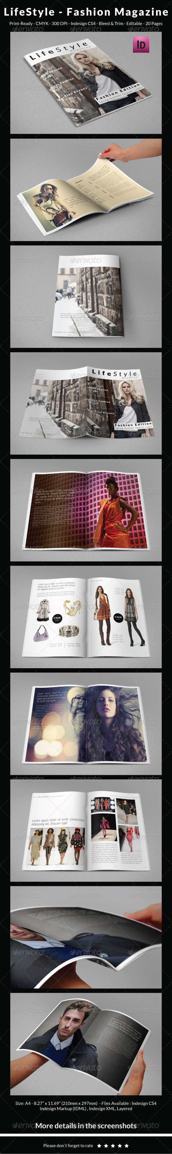 GraphicRiver LifeStyle Fashion Magazine 6316727