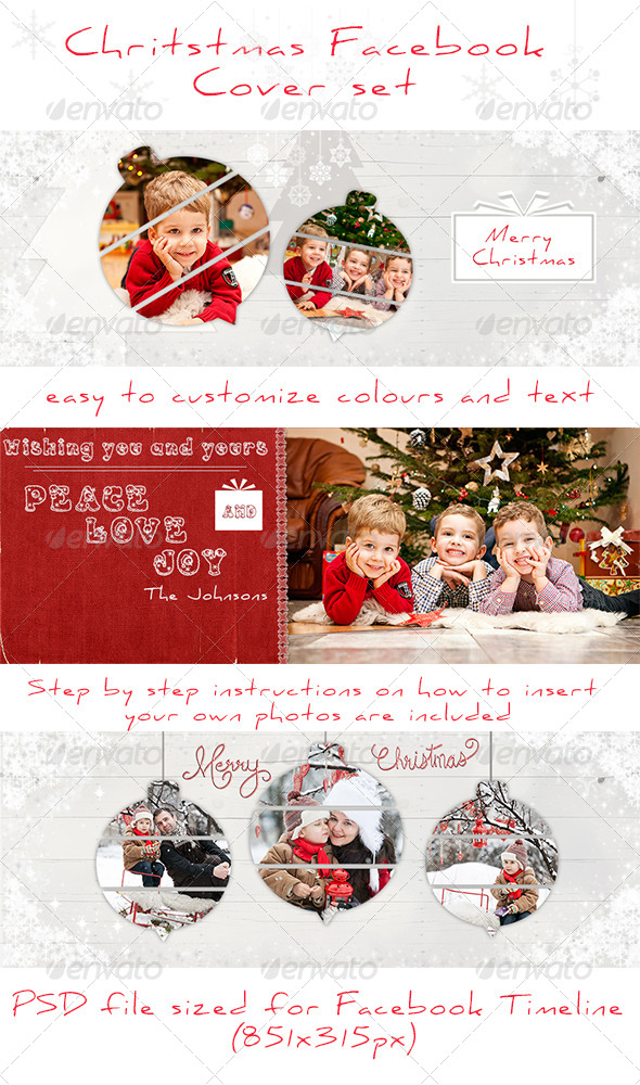 GraphicRiver Christmas Facebook Timeline Covers 6316800