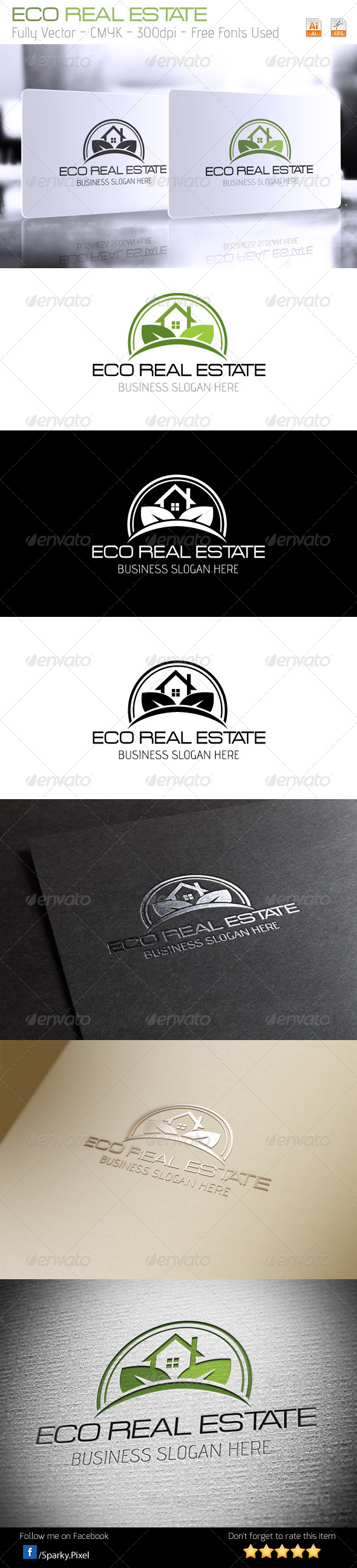 GraphicRiver Eco Real Estate Logo 6306258