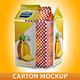 Juice or Milk Carton Mockup - GraphicRiver Item for Sale