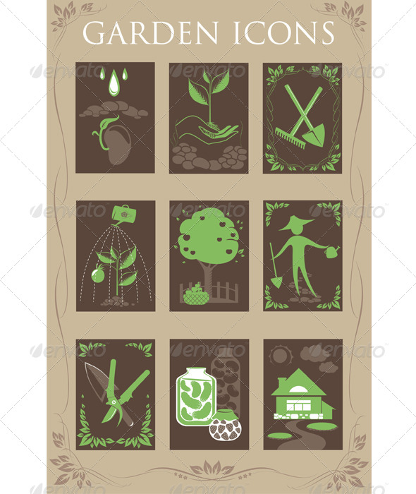 GraphicRiver Garden Icons 6316900