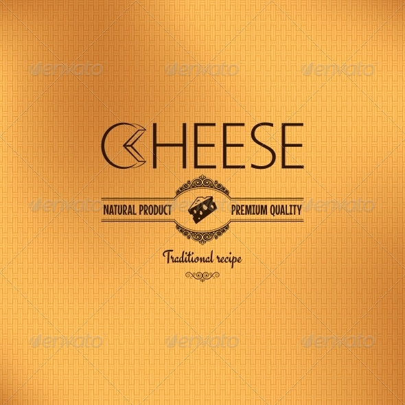 GraphicRiver Vintage Cheese Label Design Background 6316905