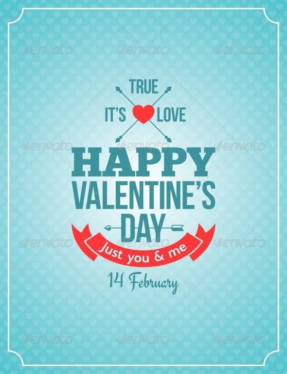 GraphicRiver Valentines Day Retro Vintage Background 6316921