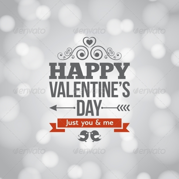 Valentines Day Silver Lights Vintage Background