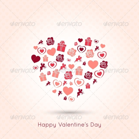 GraphicRiver Valentines Day Heart Seamless Design Background 6316928