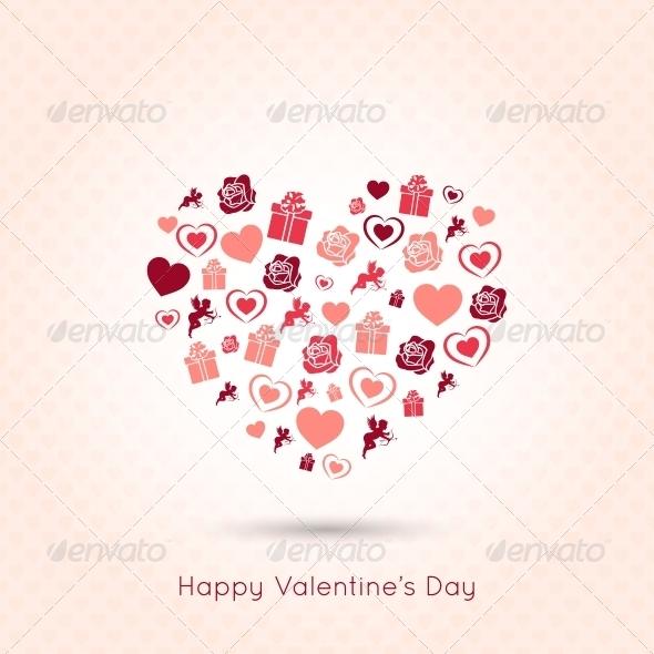 Valentines Day Heart Seamless Design Background
