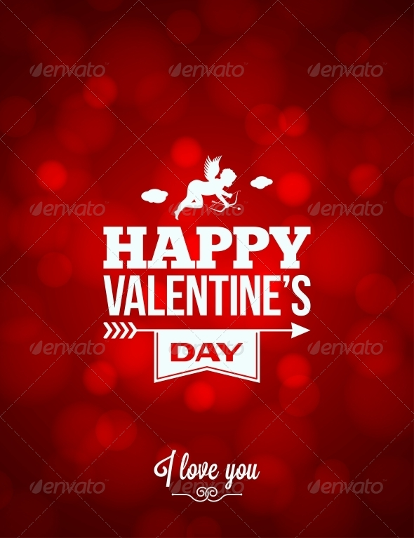 GraphicRiver Valentines Day Red Light Background 6316931
