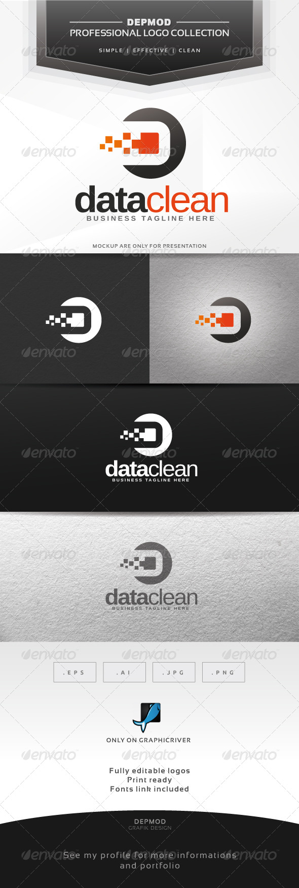 GraphicRiver Data Clean Logo 6316970
