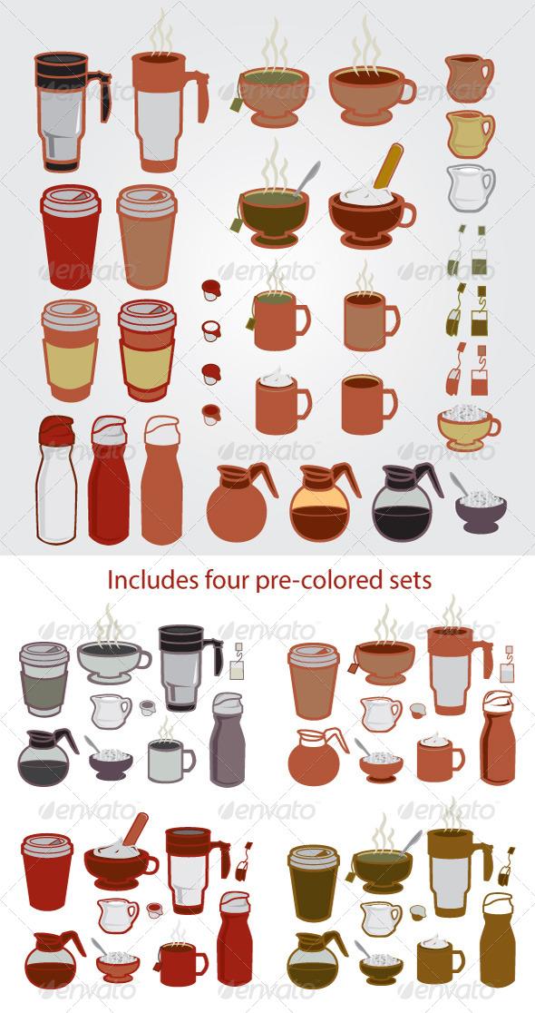 GraphicRiver Coffee Tea Designer Set 6309097
