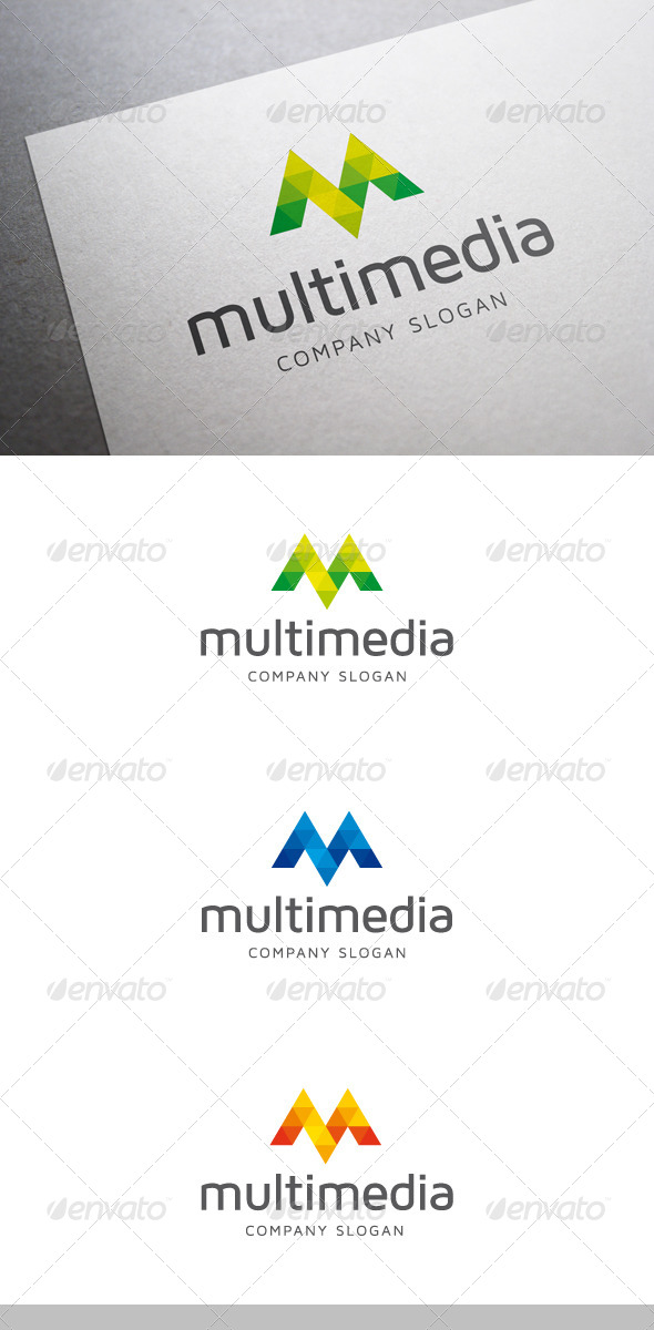 GraphicRiver Multimedia M Letter Logo 6317037