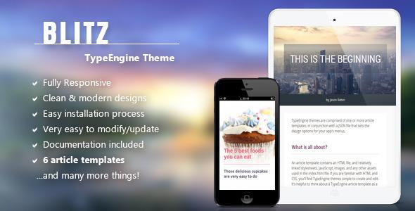 Blitz - Responsive TypeEngine Theme