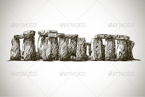 GraphicRiver Stonehenge Vector drawing 6317060