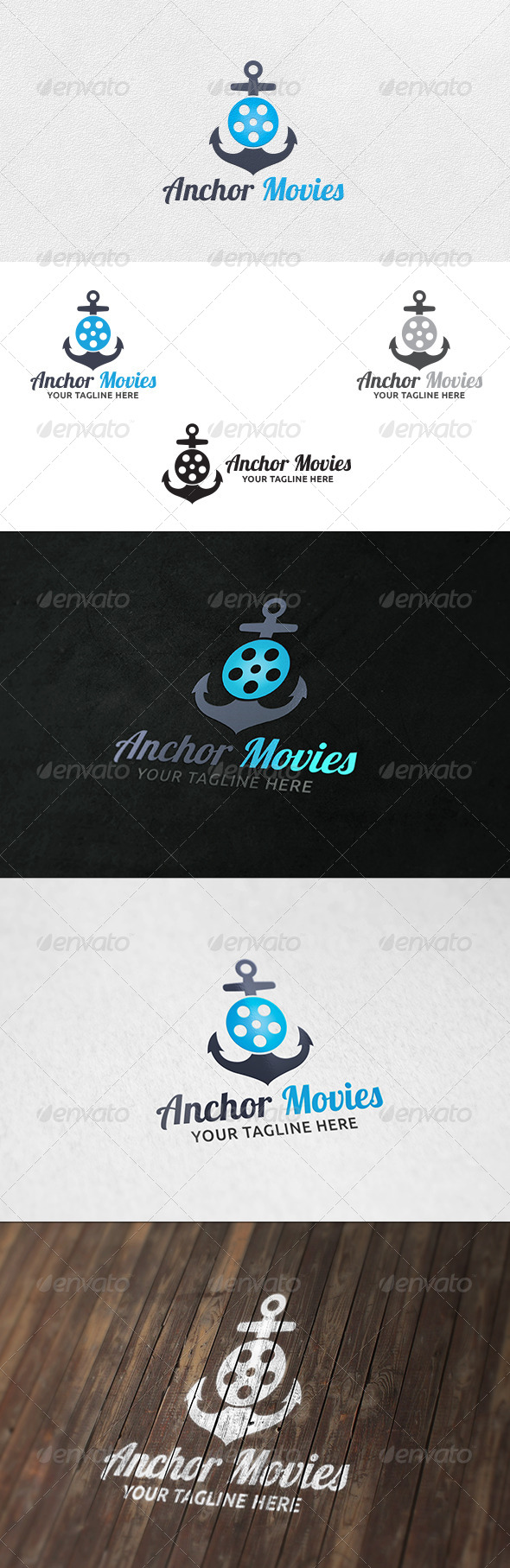 GraphicRiver Anchor Movies Logo Template 6317065