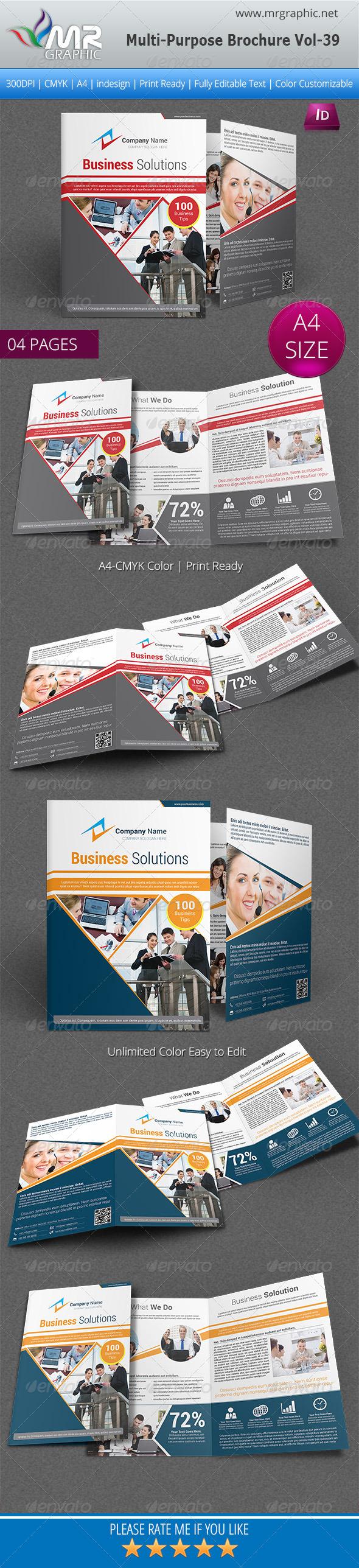 GraphicRiver Multipurpose Bifold Brochure Template Vol-39 6317083