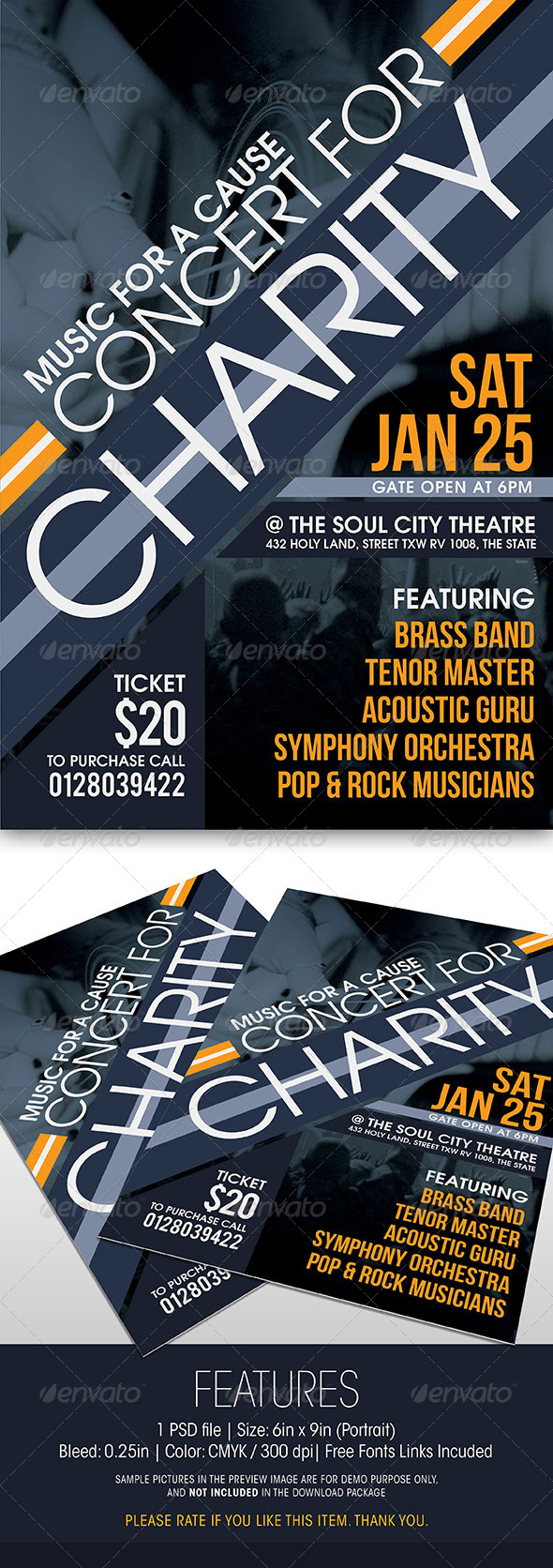 GraphicRiver Charity Concert Flyer 6317100