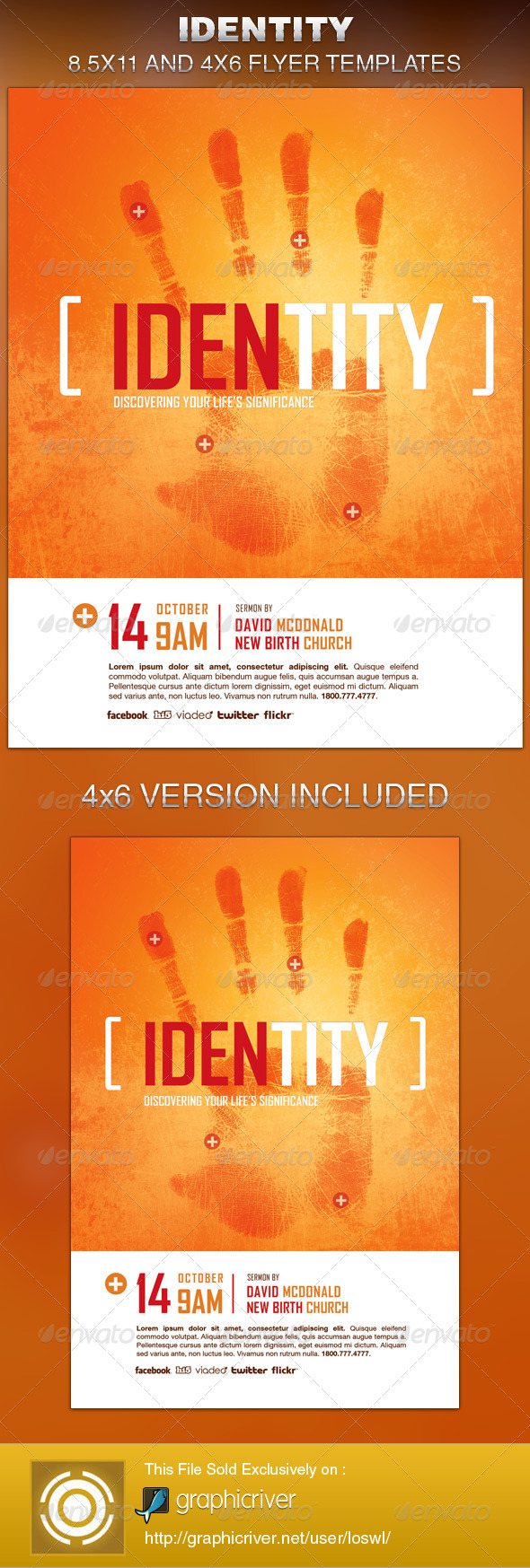 GraphicRiver Identity Church Flyer Template 6317121