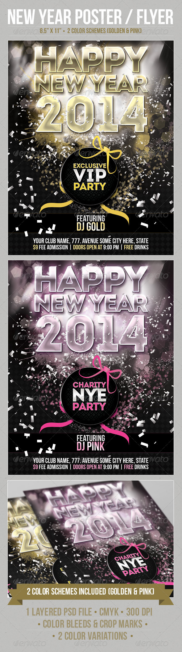 GraphicRiver New Year Party Poster Template 6264721