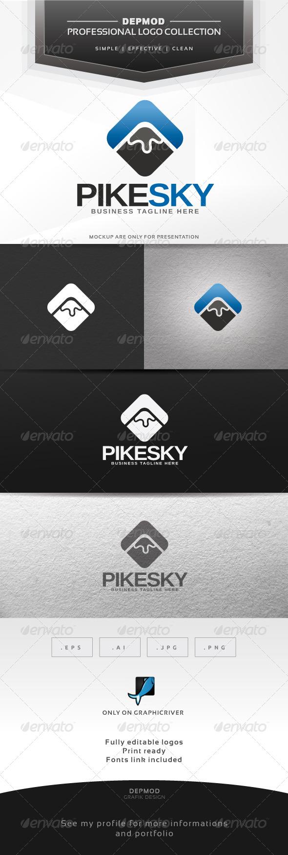 GraphicRiver Pike Sky Logo 6317127
