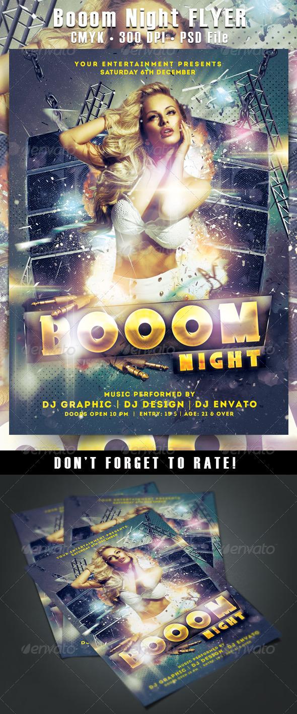 GraphicRiver Booom Night Flyer 6317189