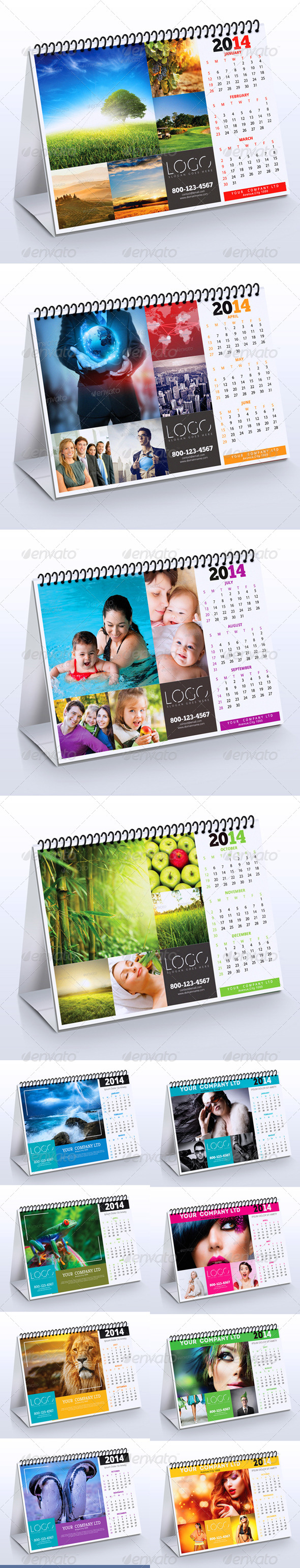 GraphicRiver 2014 Desk Calendar Bundle 6317200