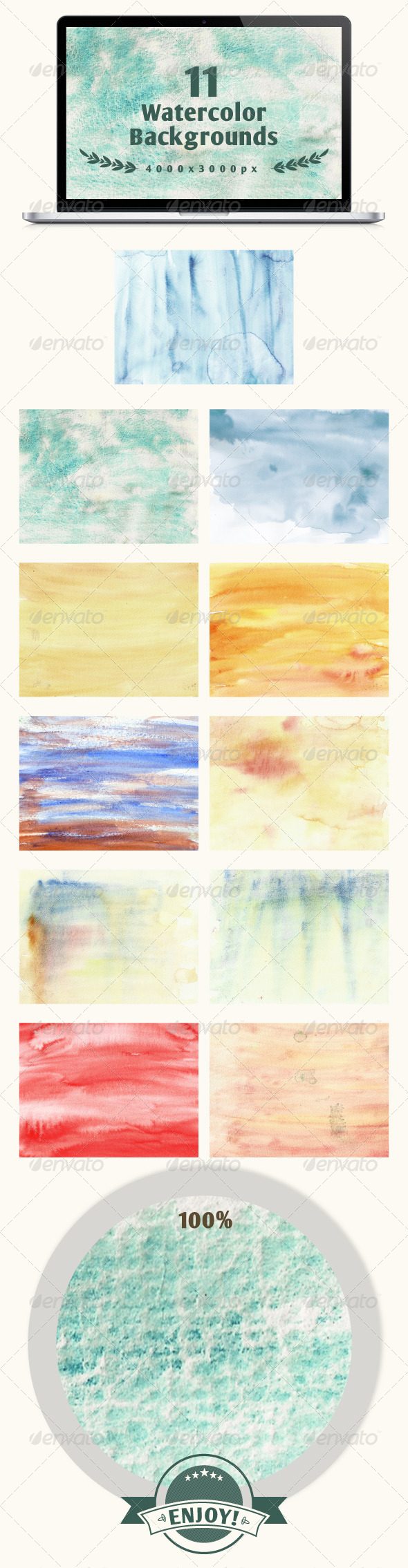 GraphicRiver Set of 11 watercolor backgrounds 6317281