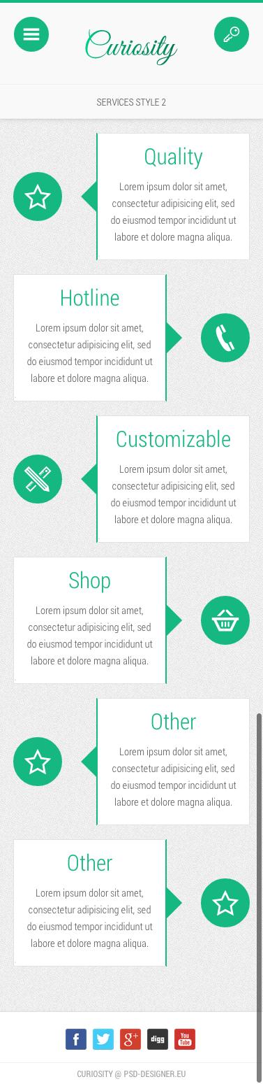 Curiosity - Premium Mobile Template