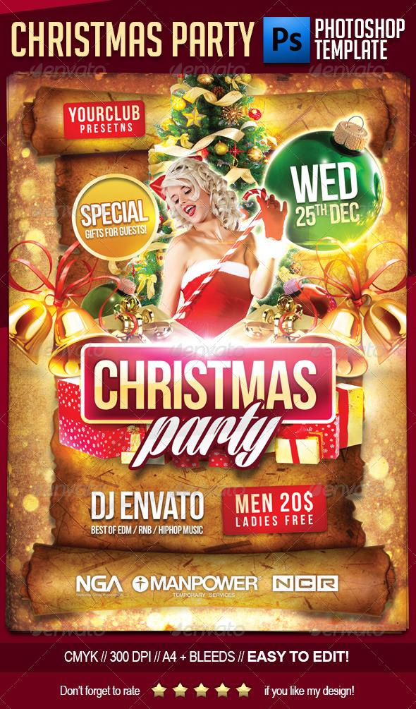 GraphicRiver Christmas Party Flyer Template 6317524