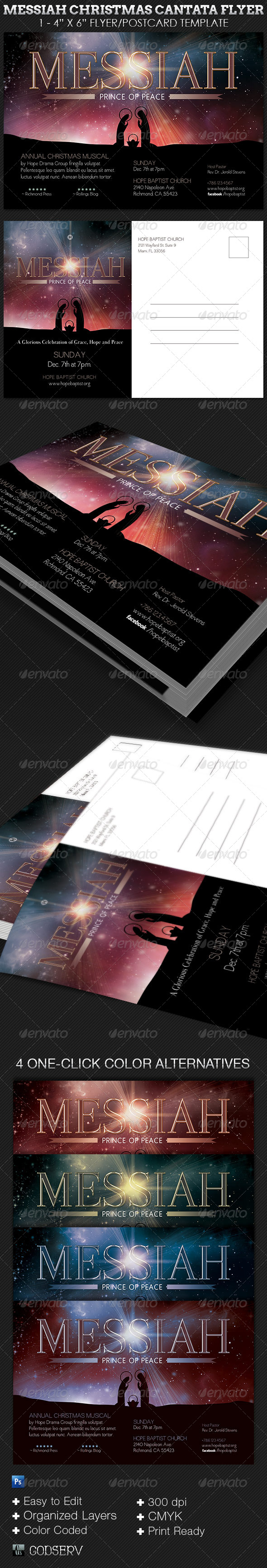 GraphicRiver Messiah Christmas Cantata Flyer Template 6317537
