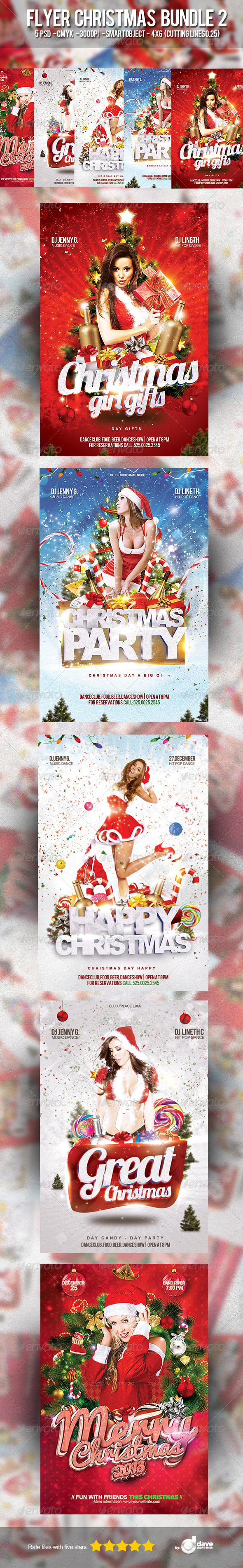 Flyer Christmas Bundle 2 - Clubs & Parties Events