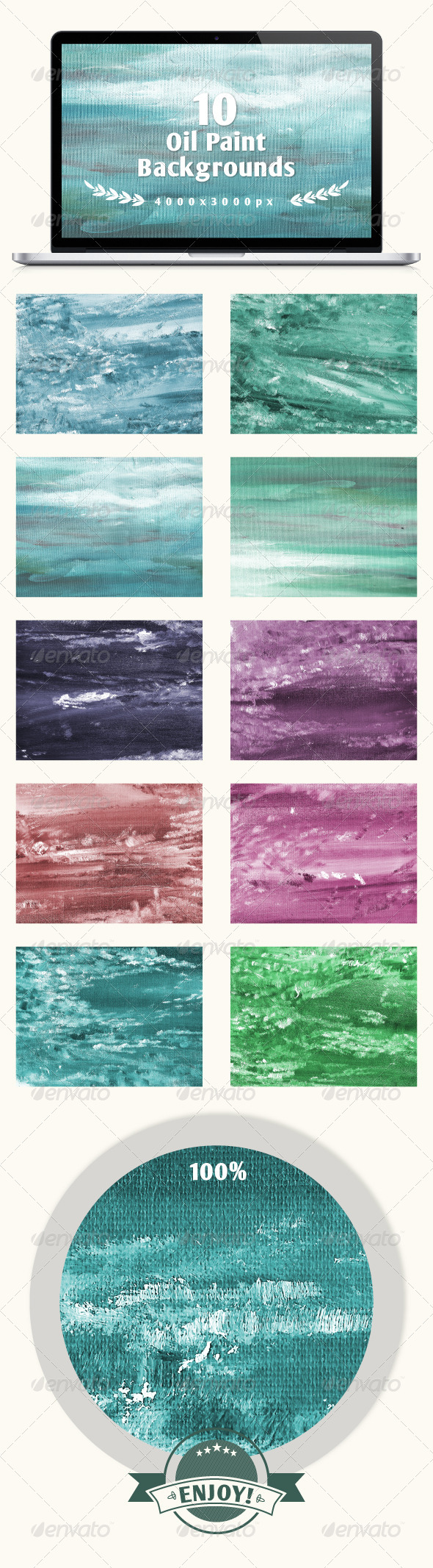 GraphicRiver Set of 10 Oil Painted Backgrounds 6317637