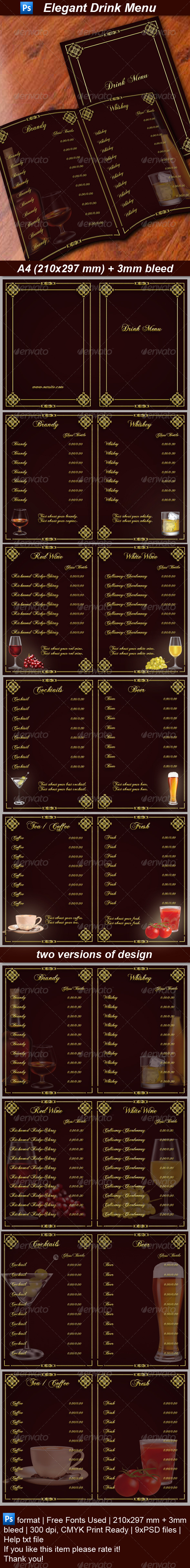 GraphicRiver Drink Menu 6317654