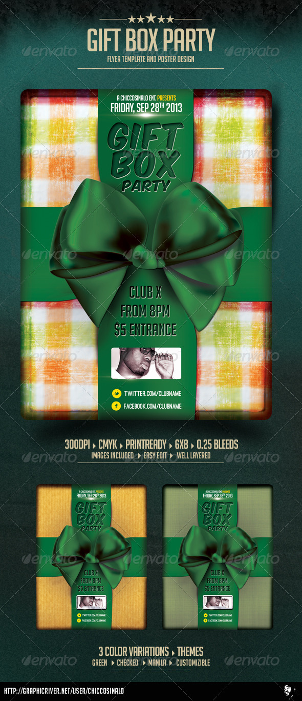 GraphicRiver Gift Box Flyer Template 3916834