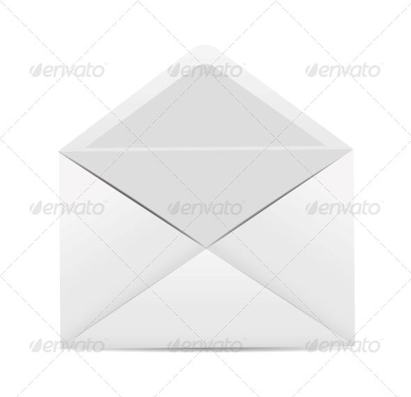 GraphicRiver White Envelope Icon Vector Illustration 6317885