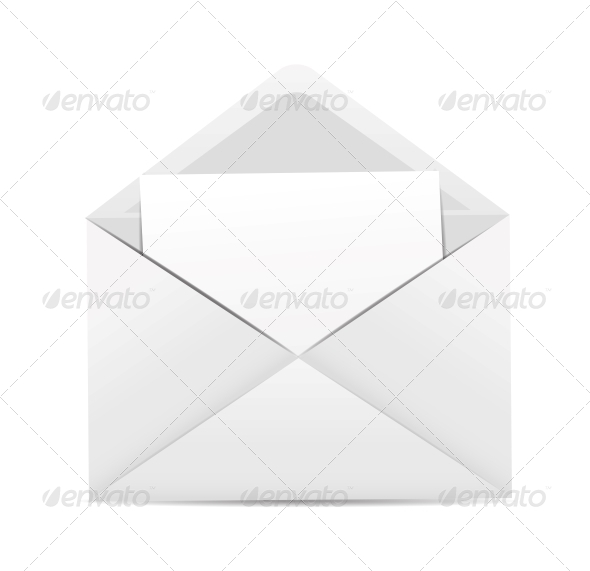 GraphicRiver White Envelope Icon Vector Illustration 6317888