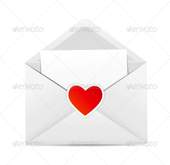 GraphicRiver Valentine`s Day Card with Envelope and Heart 6317890