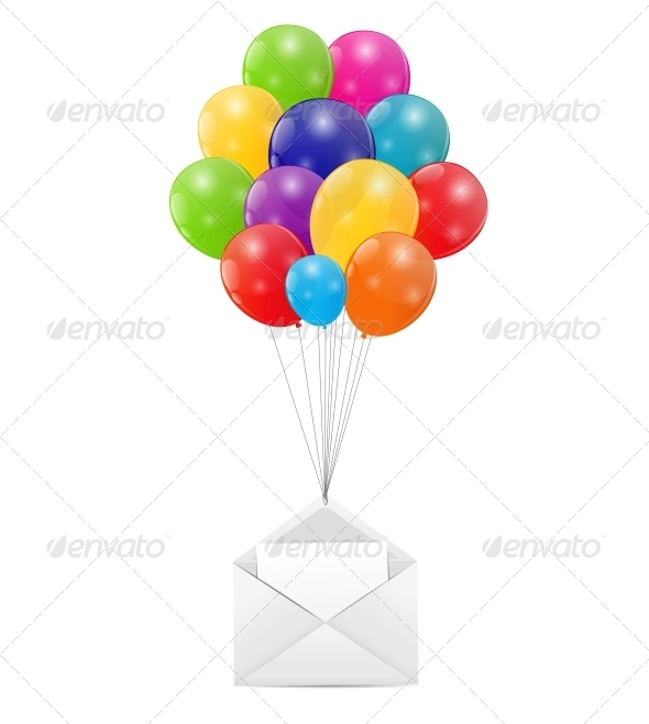 GraphicRiver Envelope with Balloons Vector Illustration 6317912