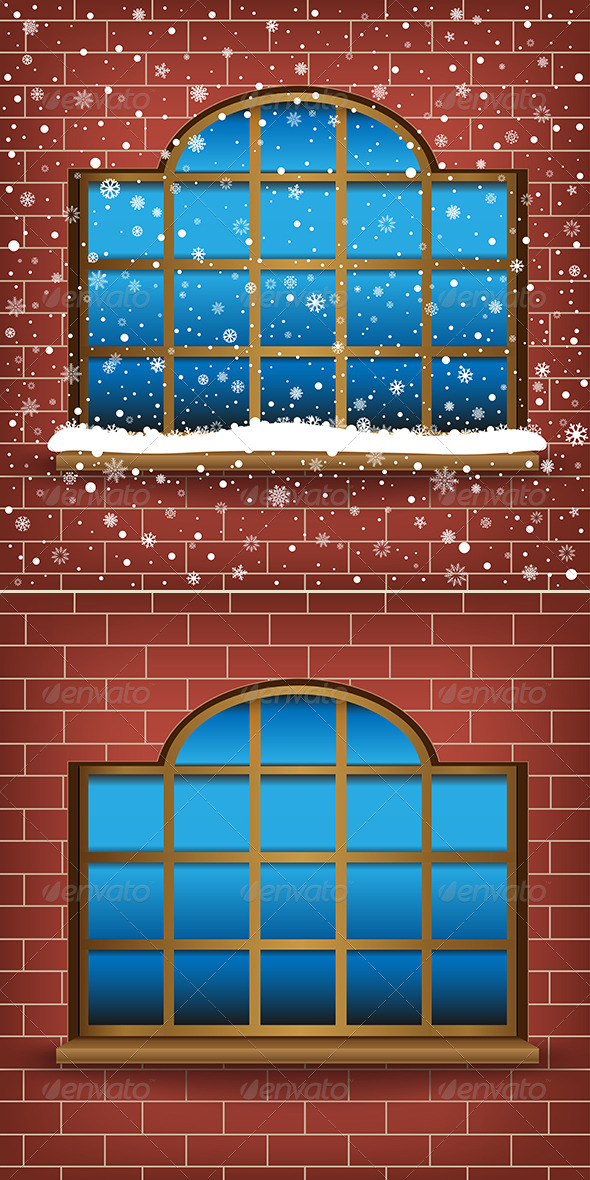 GraphicRiver Large Window and Snow 6317951