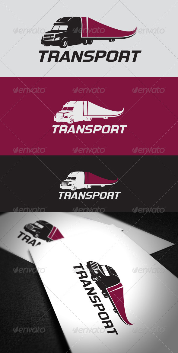 Transport Logo Template - Vector Abstract