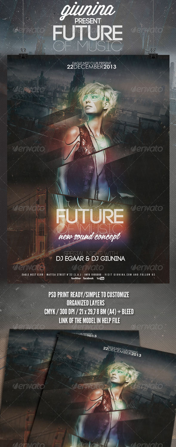 GraphicRiver Future of Music Flyer Poster 6317970